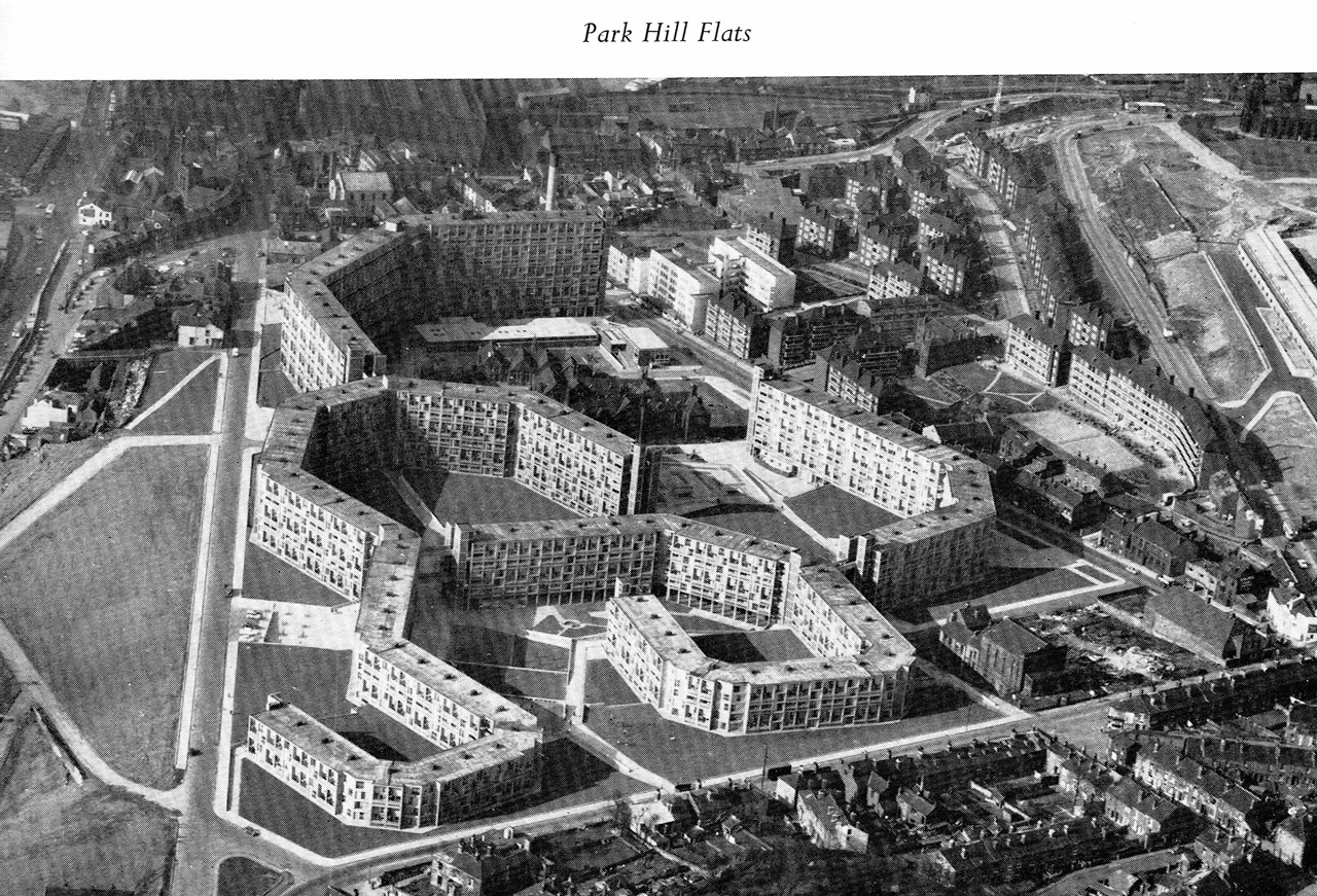 Park Hill Sheffield. Jack Lynn y Ivor Smith